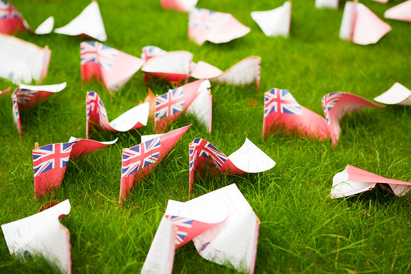 Remembrance Day paper flags