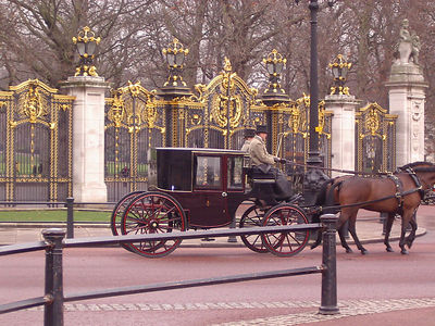 I am sure the Queen is in the carriage.