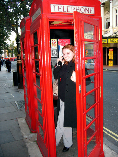 Day 1 in London. My only mission was to find a phone booth. Mission accomplished.