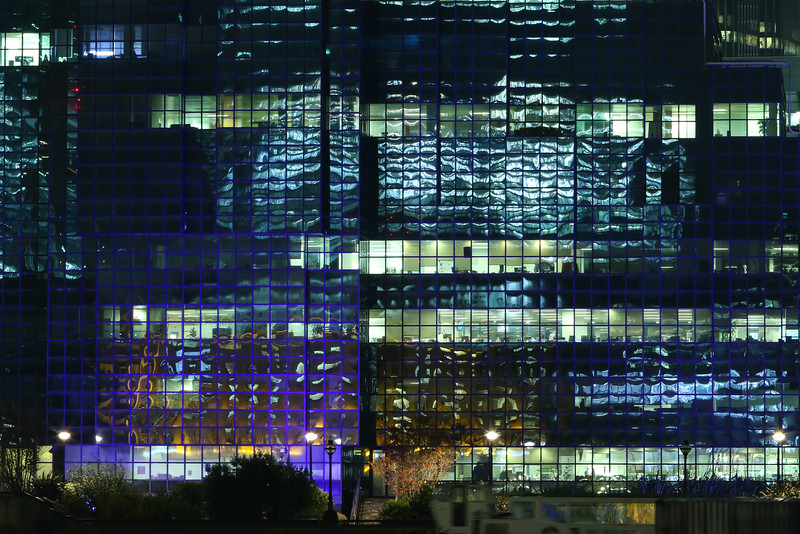 London offices by night