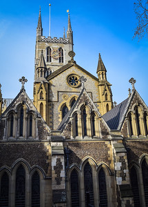 Southwark Cathedral, east facade