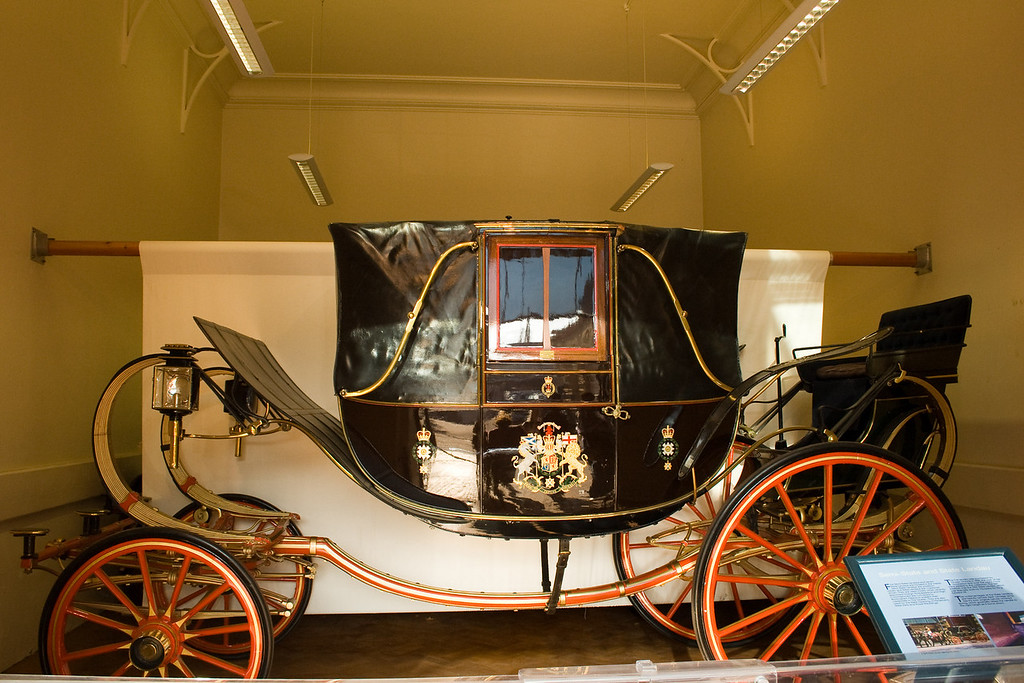 The Queen's Mews also holds the royal coaches. This is a sampling of them.