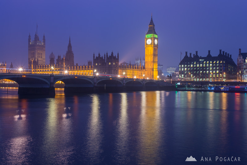 Big Ben and Houses of Parliament at the blue hour