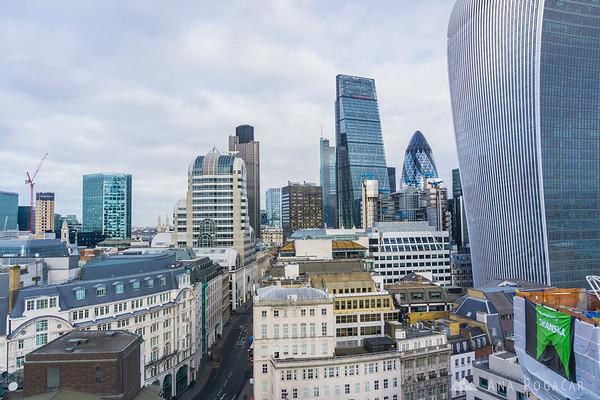 Views from the Monument to the Great Fire of London