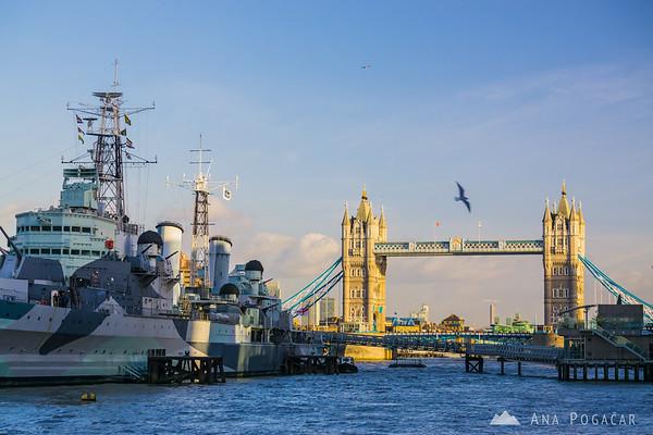 Tower Bridge and HSM Belfast