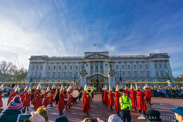 Changing of the Guard at the Buckingham Palace
