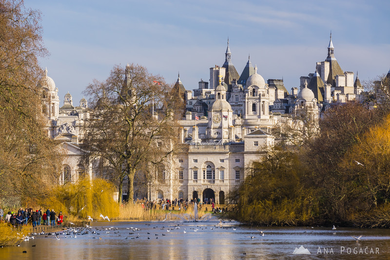 The Royal Stables from St. James Park