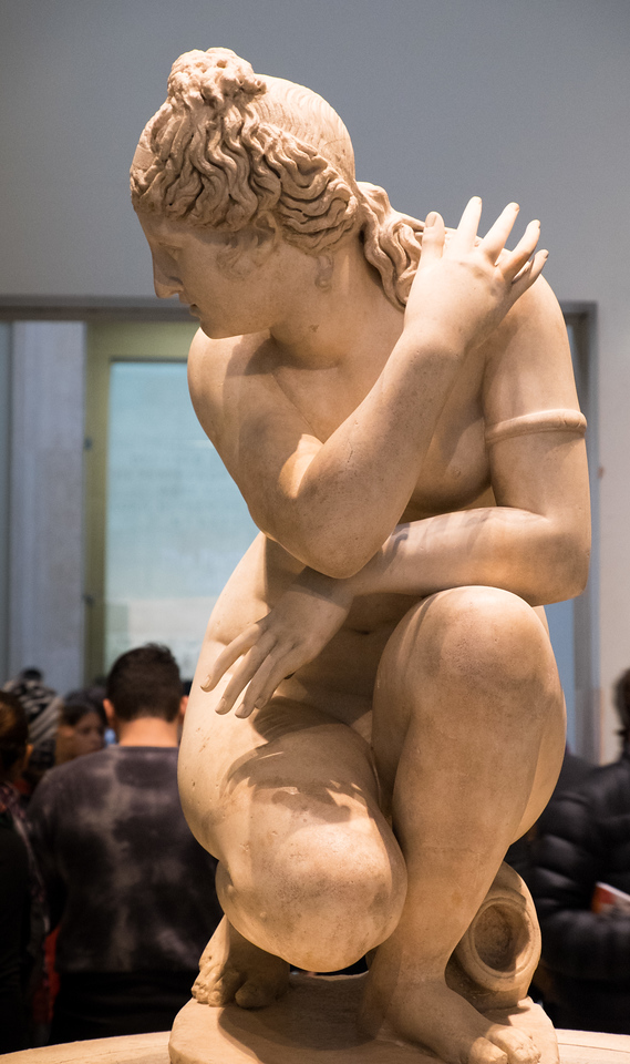 "The British Museum has one of the largest collections of antiquities (much of it ""borrowed"" from other countries). Here is a Roman Aphrodite crouching at her bath"