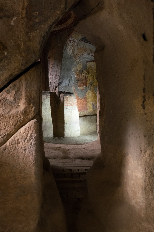 many of the carved out churches and homes had multiple rooms connected by passages