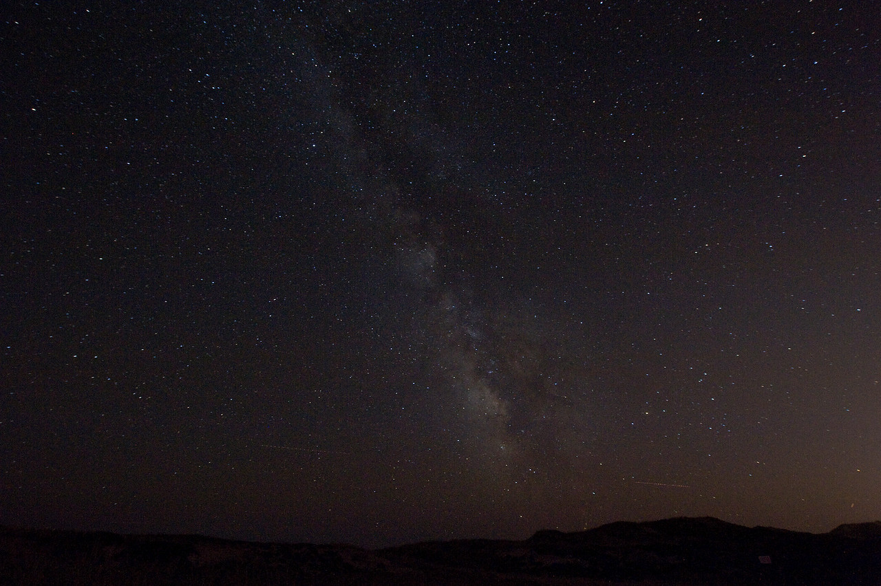 Milky Way over Montauk dunes, Aug 2010.