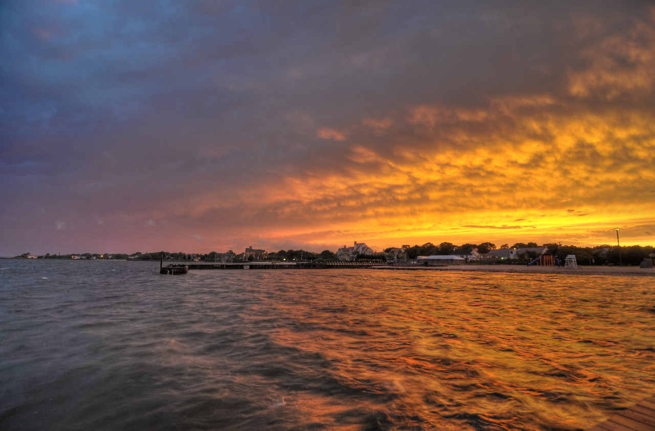 Sunset over Great South Bay