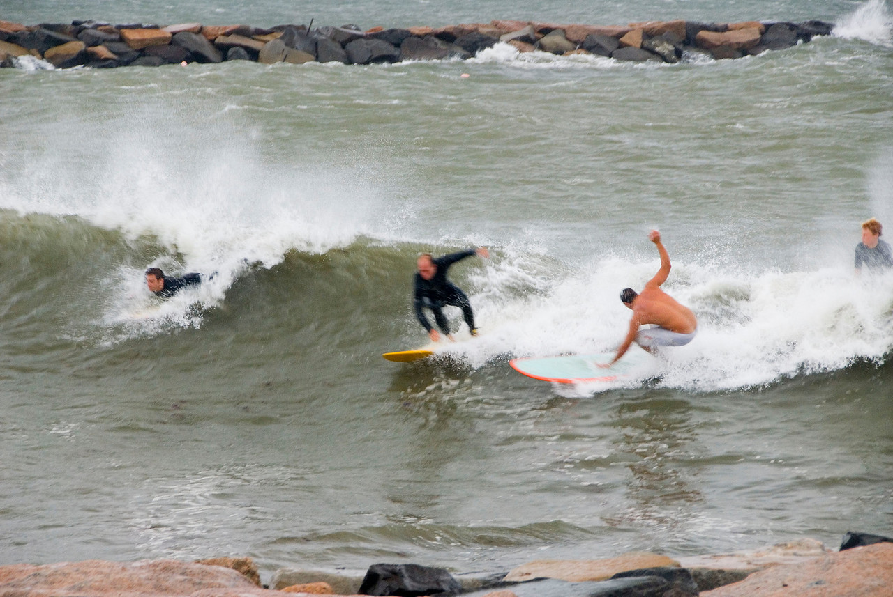Future Shark Food: Surfers on Lake Montauk, Sept 2 2006