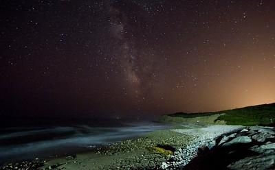 Montauk Point night sky