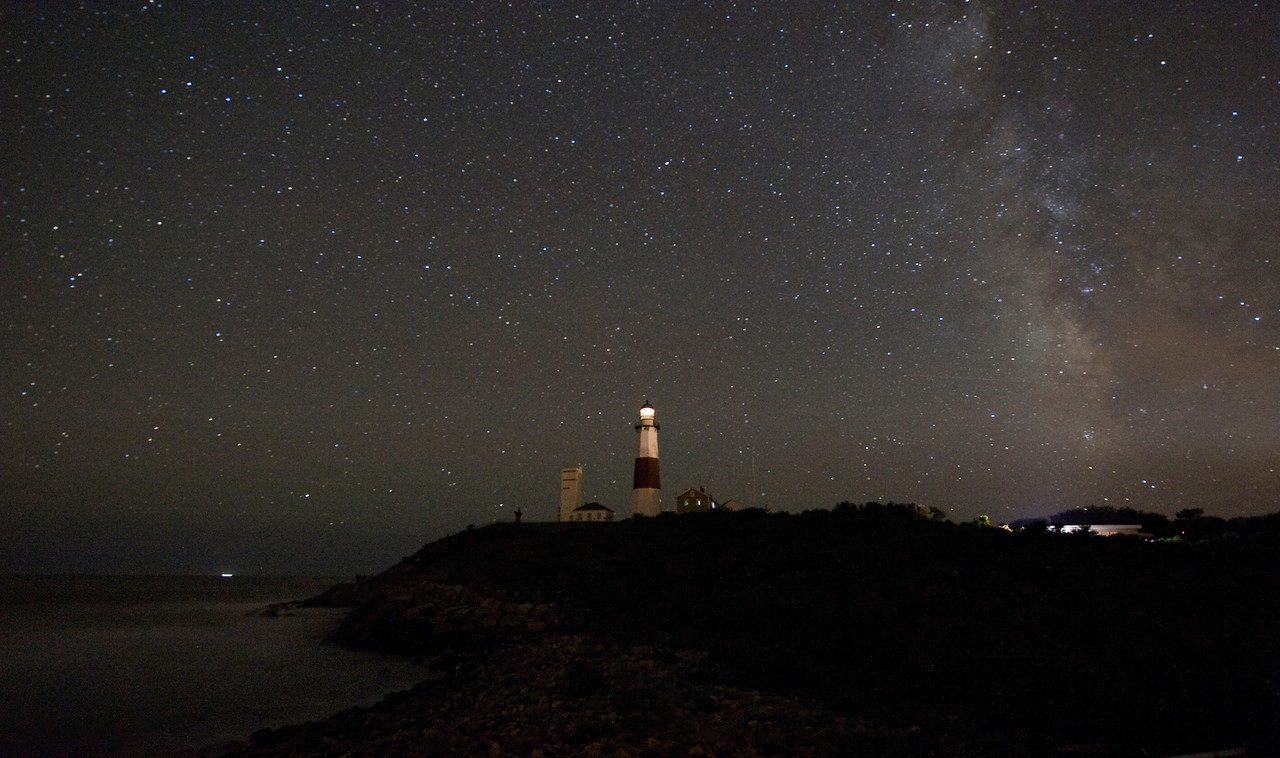Milky Way over Montauk Lighthouse