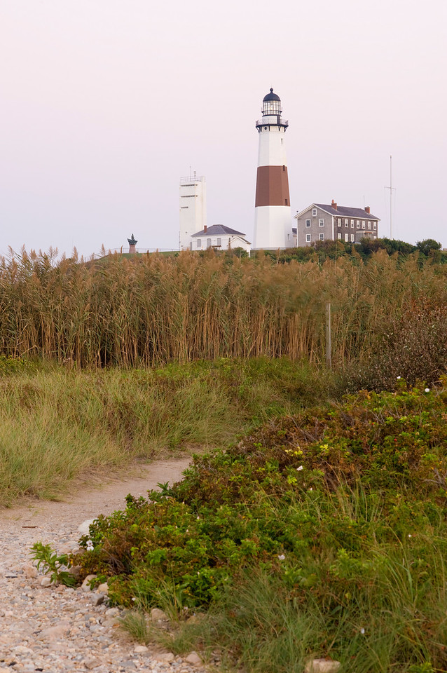 Montauk Lighthouse at dusk
