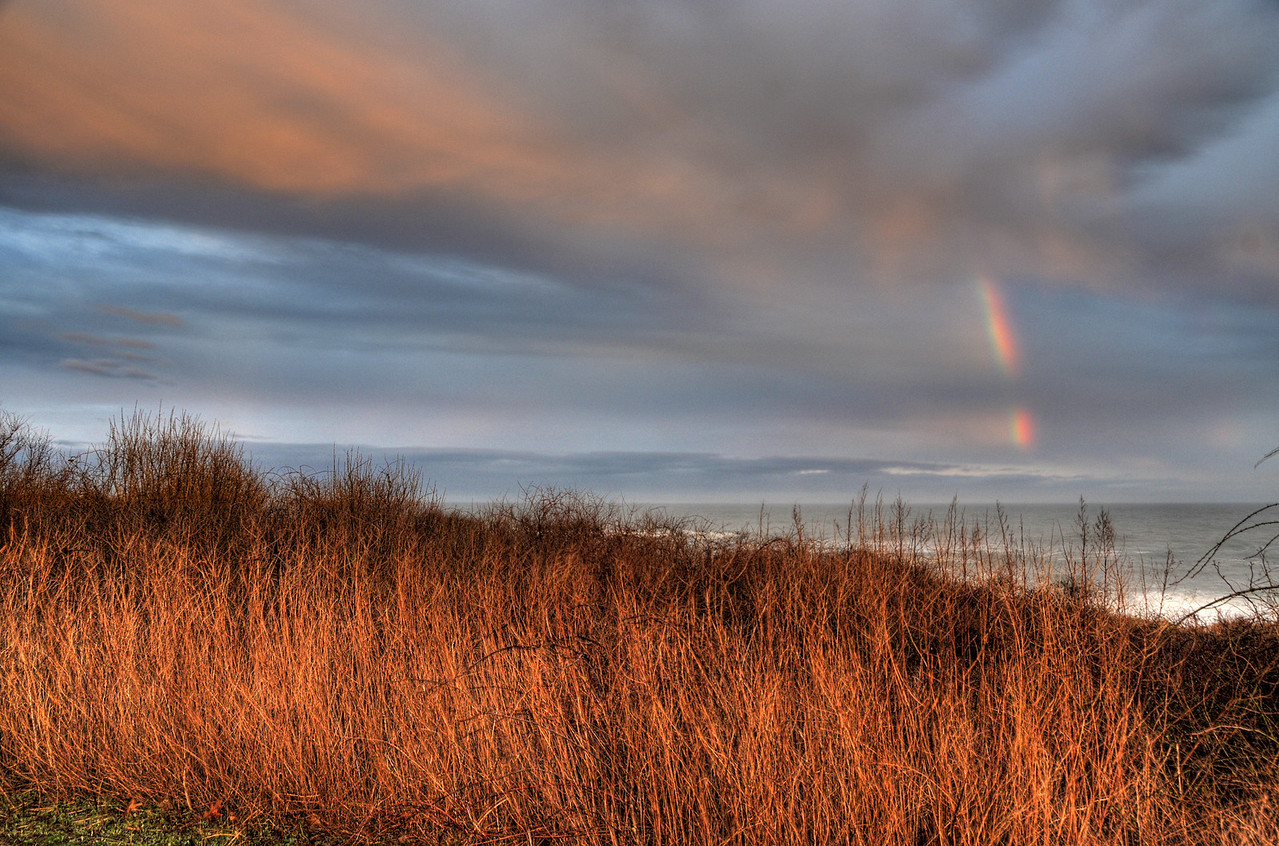 Rainbow over the Atlantic Ocean