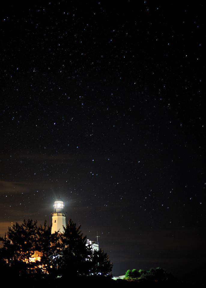 Montauk Lighthouse with stars