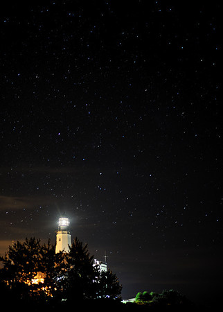 Montauk Lighthouse with stars