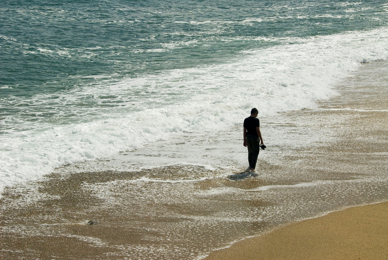 Lone figure on Montauk beach