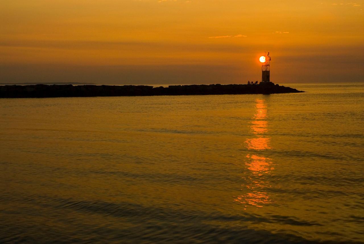 Sunset on Lake Montauk.