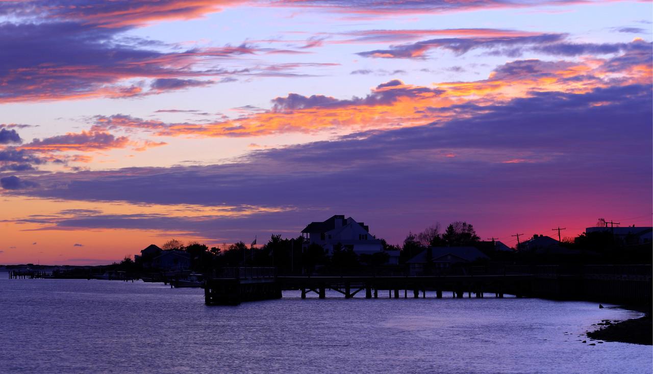 Sunset at Oak Beach, Long Island.