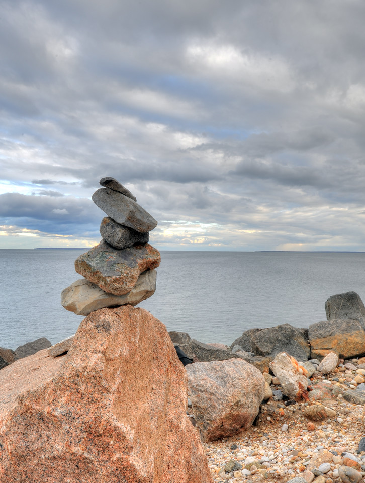 Stacked rocks, Orient Point
