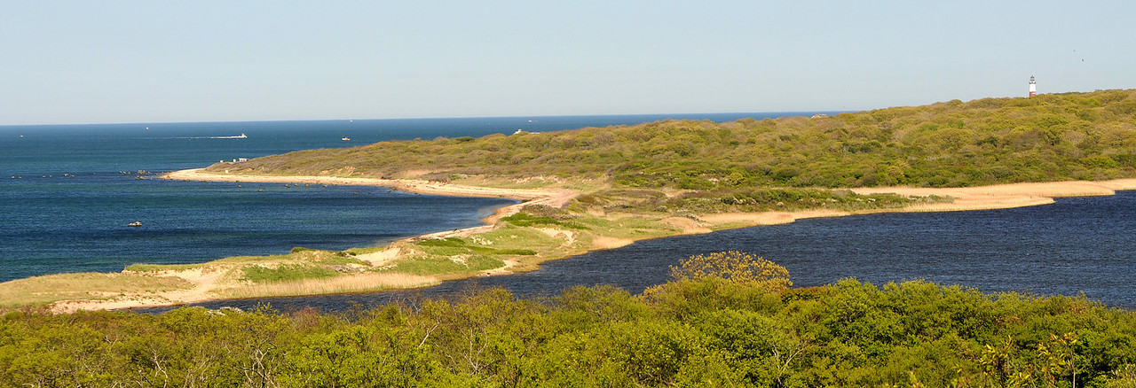Oyster Pond and lighthouse, Montauk