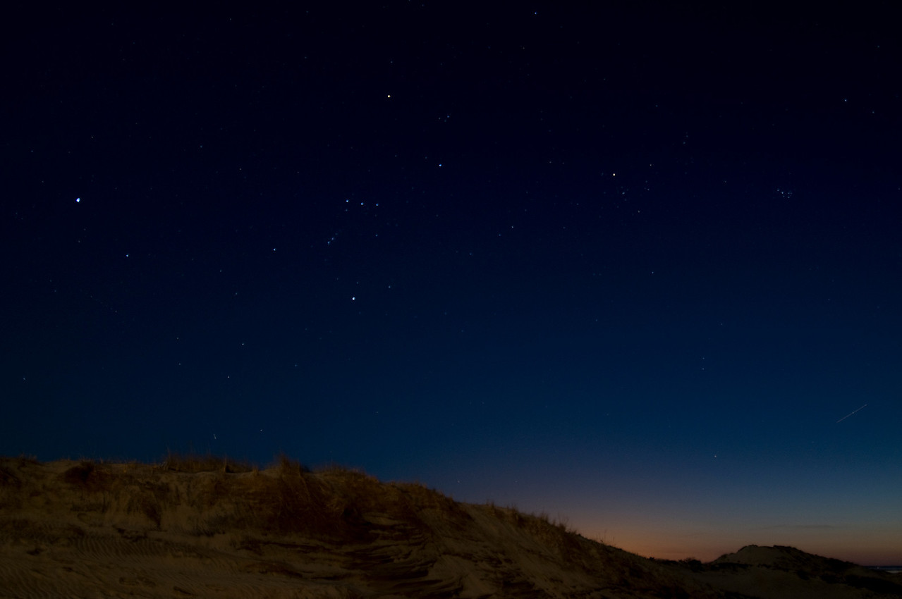 Orion over Walking Dunes, Montauk