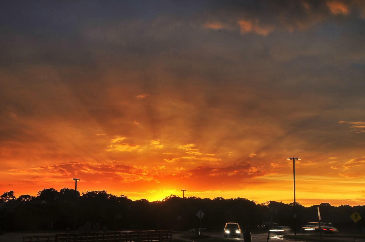Radiant Sunset, Bay Shore