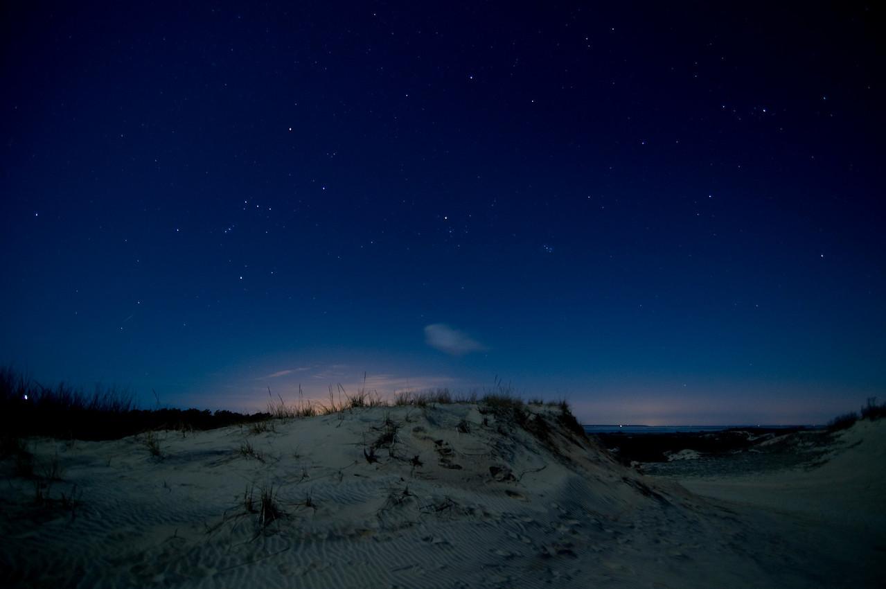 Twilight at Walking Dunes