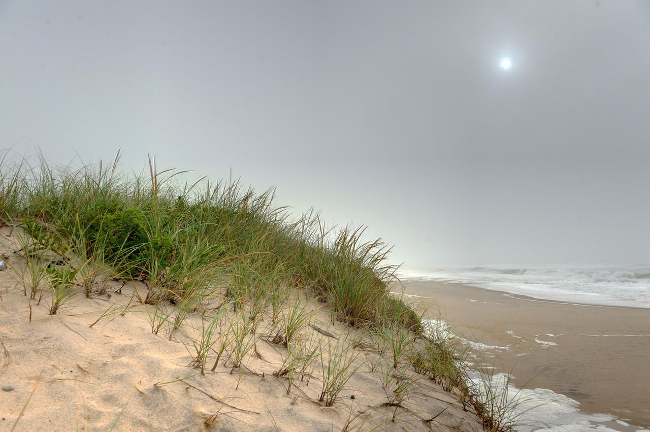 Last glimpse of the Montauk sun as Hurricane Irene approaches, Aug 27 2011.