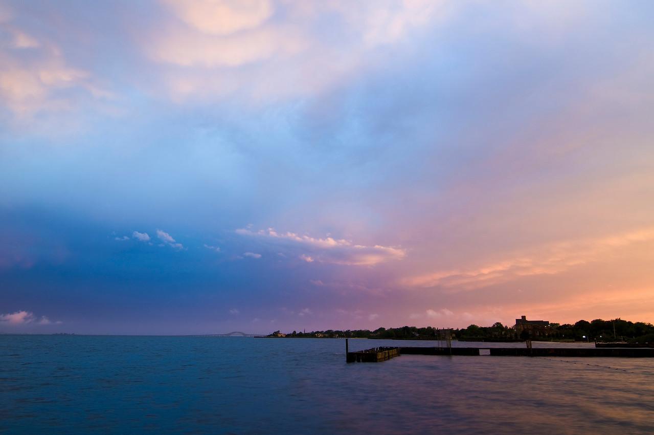 Sunset, Bay Shore Marina