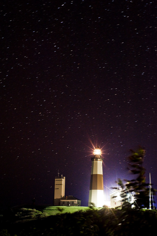 Starry night at Montauk Lighthouse
