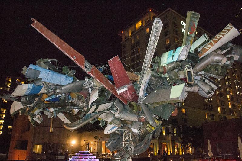 Sculpture in front of MoCA