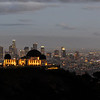 Looking down on the Griffith Observatory and downtown Los Angeles from the Mt. Hollywood Hiking Trail