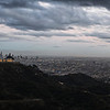 Looking down on the Griffith Observatory, Hollywood and downtown Los Angeles from the Mt. Hollywood Hiking Trail