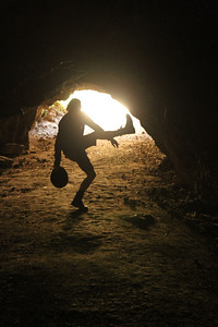 Dancing in a Bronson Canyon, ever wary that the Ro-Man may return to his cave. August 27, 2011.