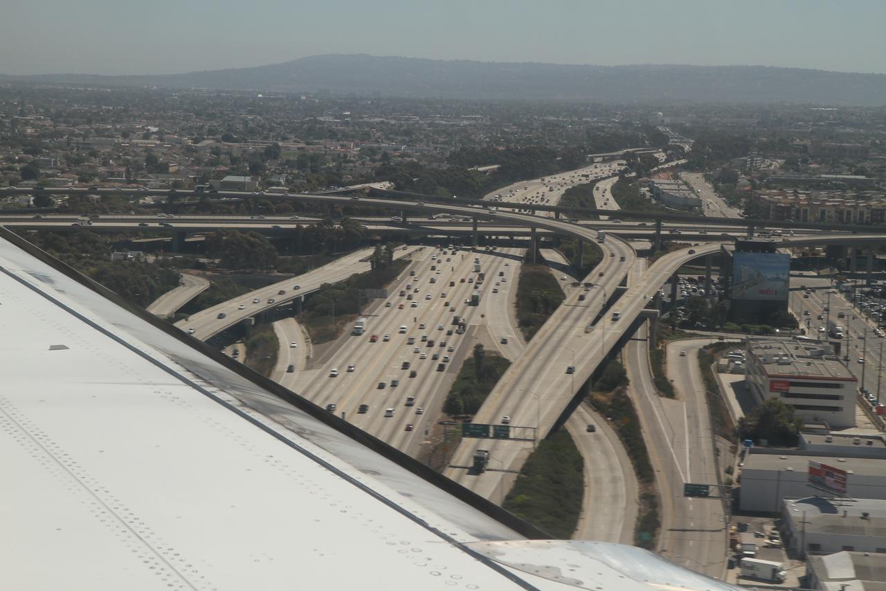 LA freeways. August 25, 2011.