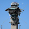 The Airport Air Traffic Control Tower in Los Angeles, California.