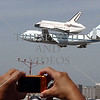 Space Shuttle Endeavour lands at Los Angeles Airport for the transport to its permanent home at the Los Angeles California Science Museum.
