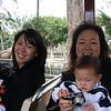 Jenny, Jonathon, her mom and Elliott at the zoo.