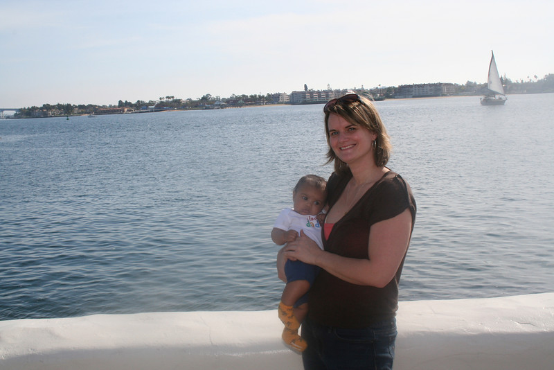 Visiting the waterfront at Seaport Village.