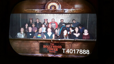 Picture at the top of the haunted elevator...just before the drop