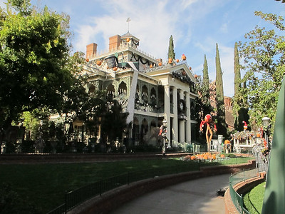 Sadly, the Haunted Mansion was closed so they could convert back from their Christmas-o-rama