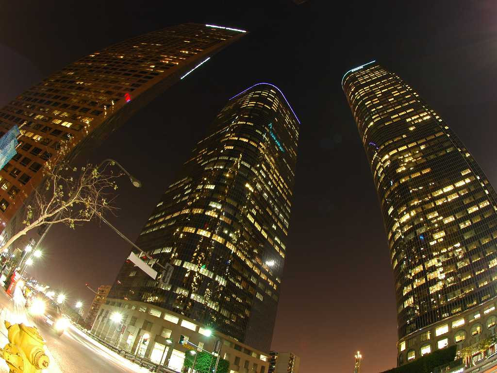 Skyscrapers in Los Angeles, Sept 2005