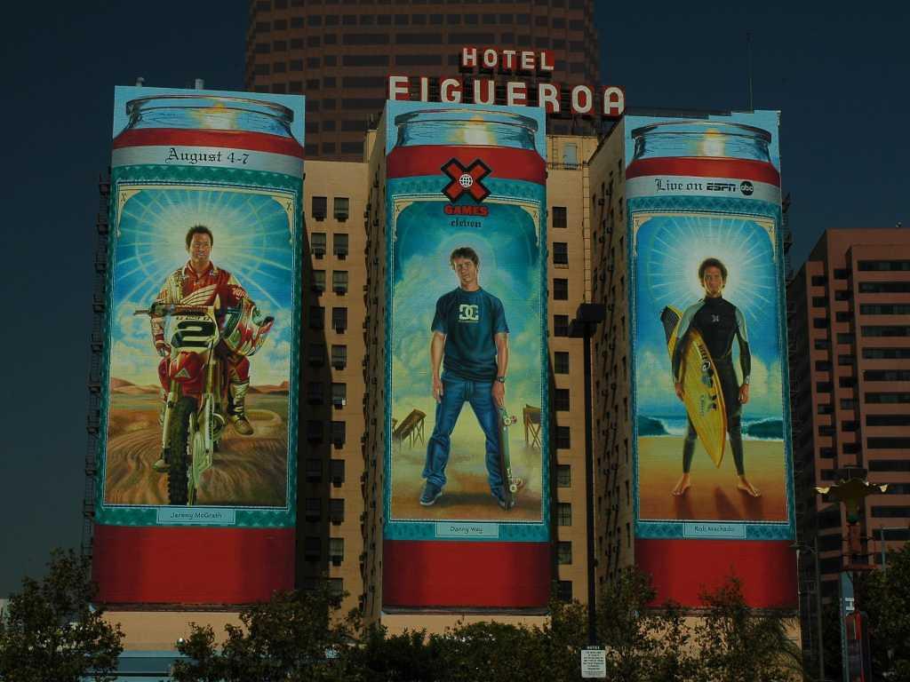 Hotel Figueroa billboard, Sept 2005