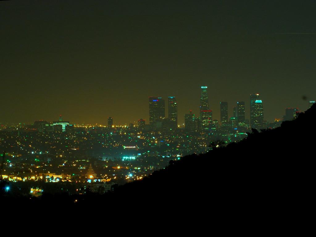 Los Angeles at night, Sept 2005