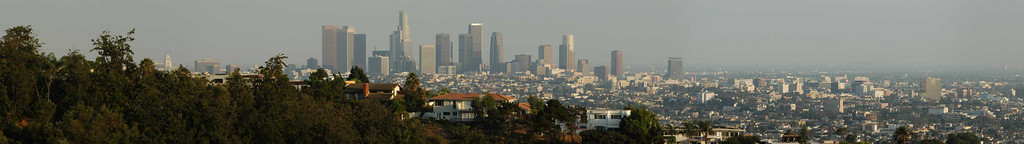 Los Angeles skyline from Mulholland Drive, Sept 2005