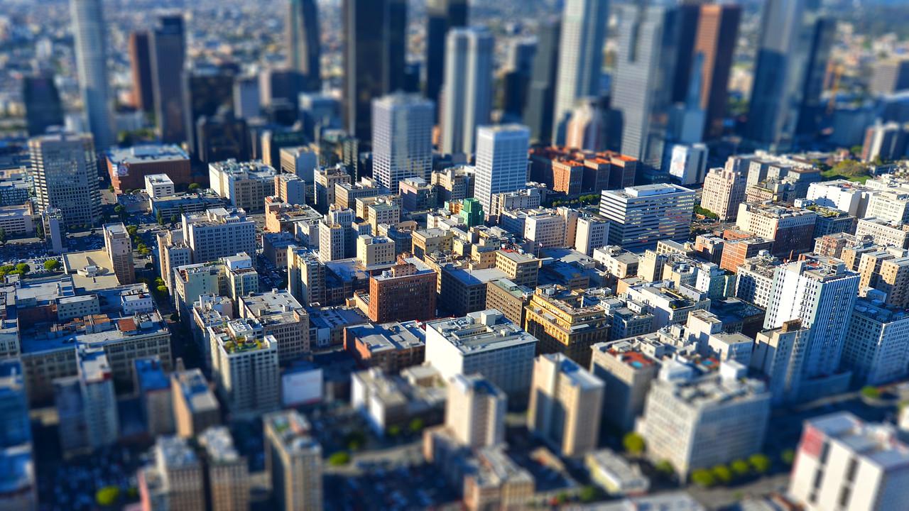 Downtown Los Angeles Tilt Shift
