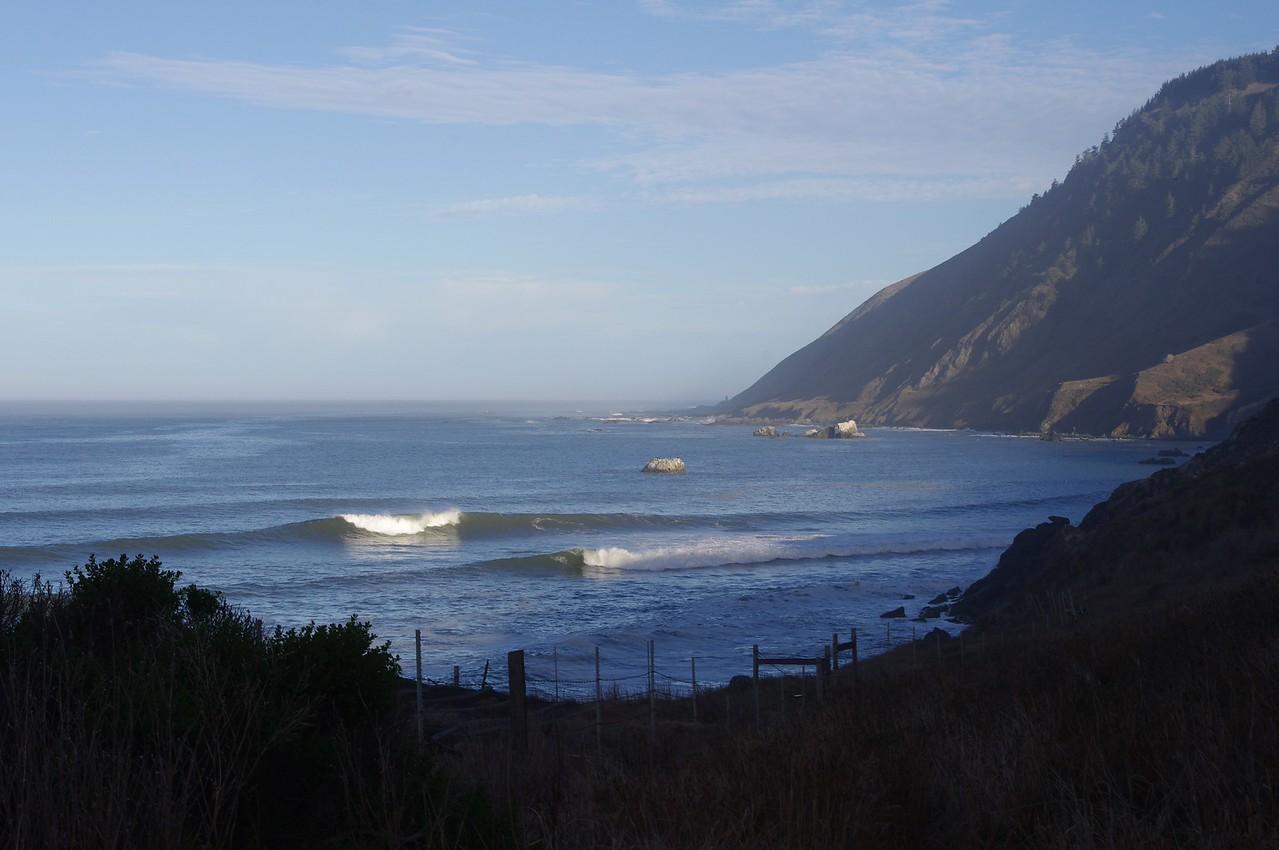 morning. for four days, constant irregular roar of surf